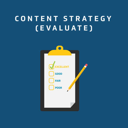 content strategie - evalueren Stock Illustratie