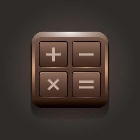 rekenmachine pictogram Stock Illustratie