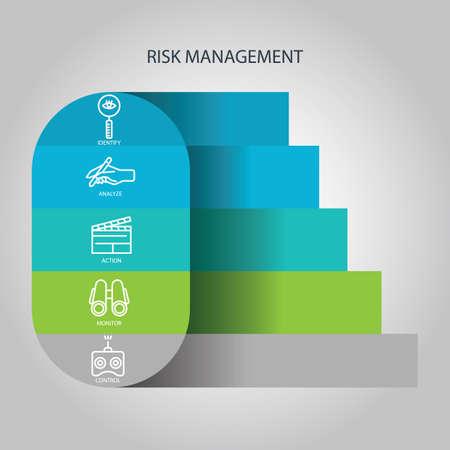 リスク管理のインフォ グラフィック  イラスト・ベクター素材