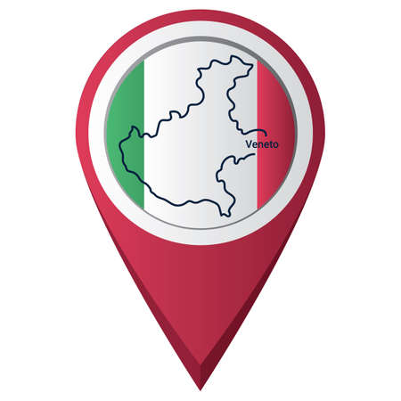 Map pointer with veneto map