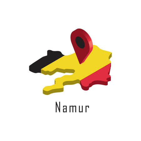 namur map with map pointer