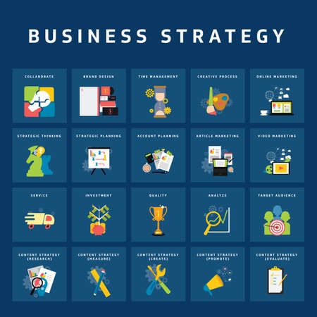 business strategy 向量圖像