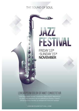 jazz festival poster Stock Illustratie