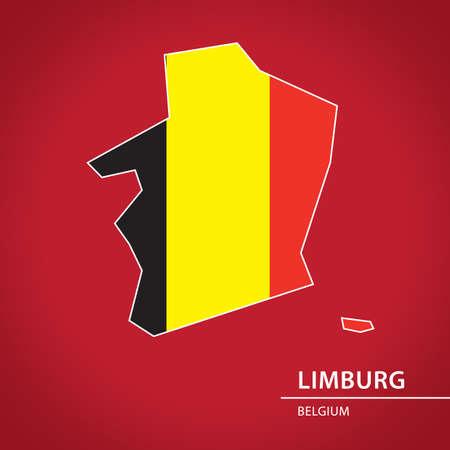 Limburg map Ilustração