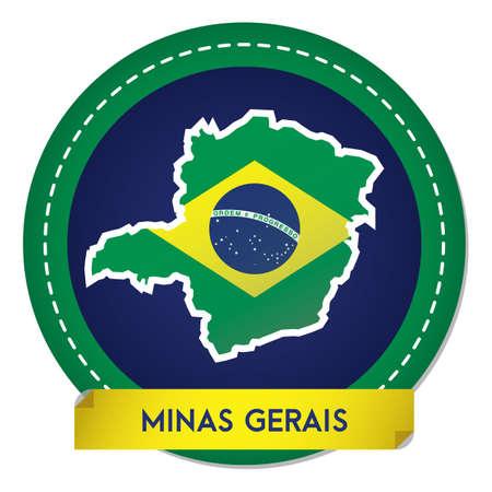 minas gerais map sticker Banque d'images - 106669362