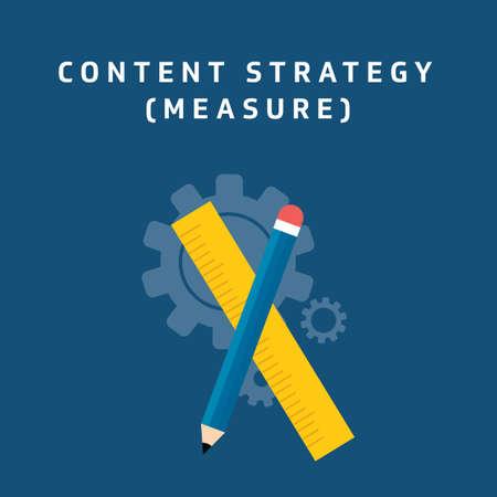 Estrategia de contenido - medida Foto de archivo - 81535409
