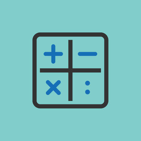 calculation icons 向量圖像