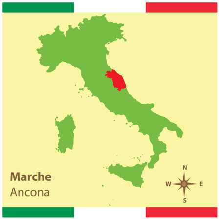 marche on italy map