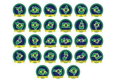 brazil map icons Ilustração