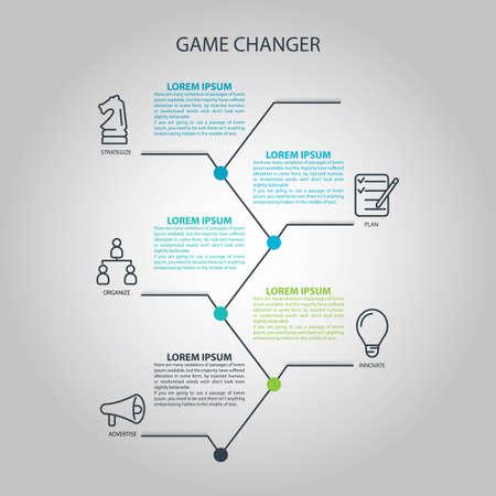 Game wisselaar infographic Stock Illustratie