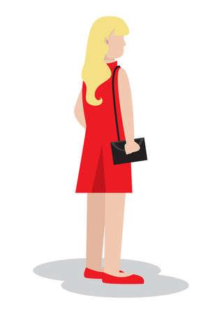 Frau mit Handtasche Standard-Bild - 81590082