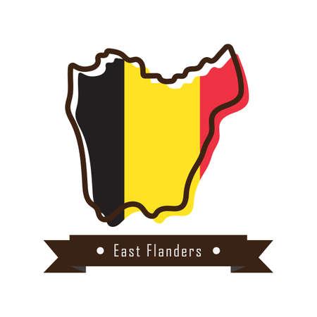 east flanders map