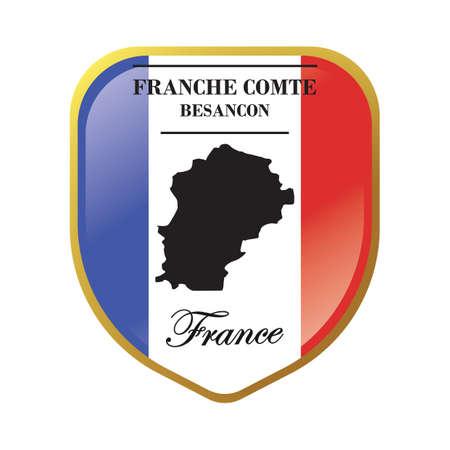 Franche comte map label