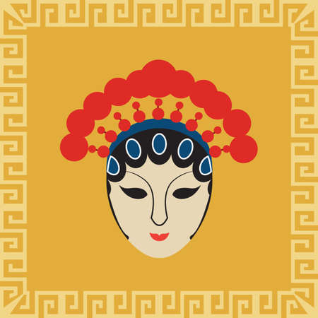 chinese opera mask Stock Vector - 81535591