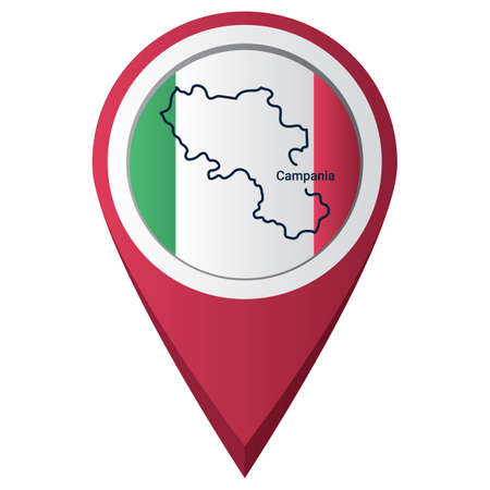 Map pointer with campania map