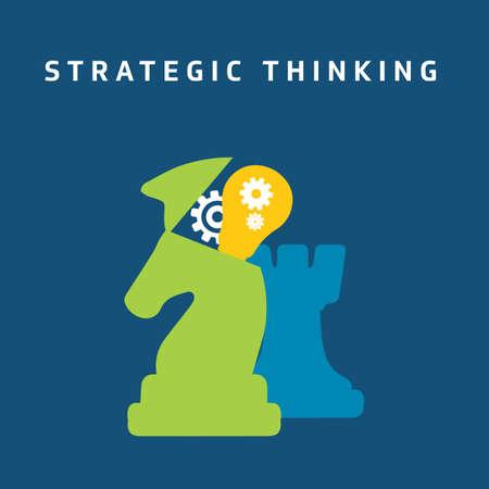 戦略的思考  イラスト・ベクター素材