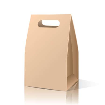 bruine papieren zak