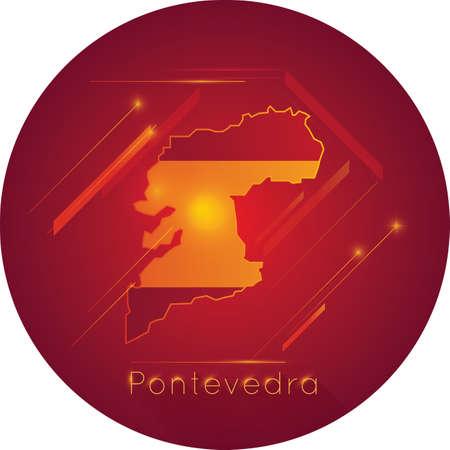 Pontevedra map Banco de Imagens - 81601256