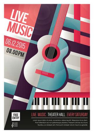 live music poster Illustration