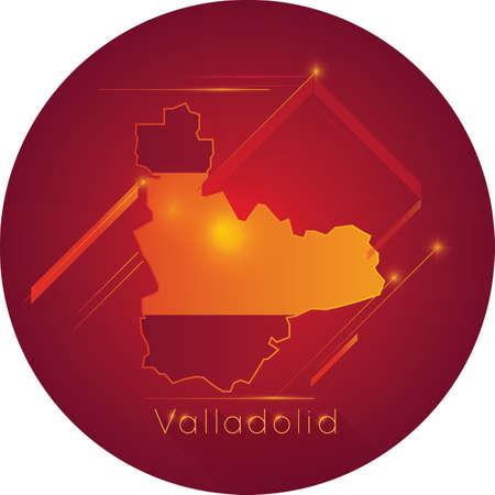 Valladolid map Illustration