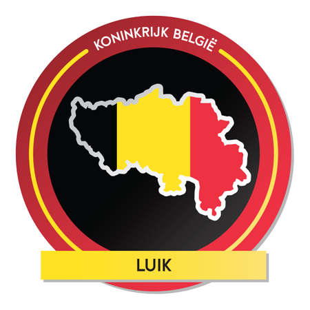 luik map sticker Ilustrace