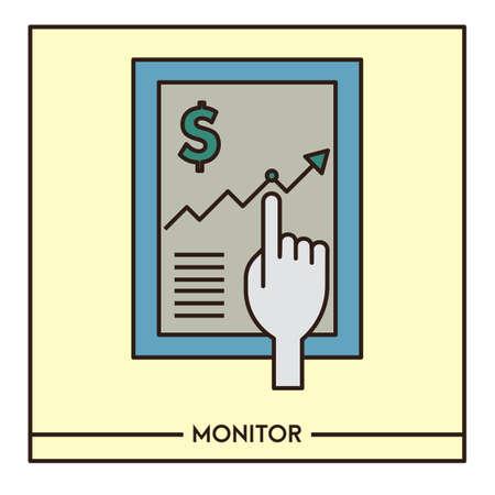 Monitor Illusztráció