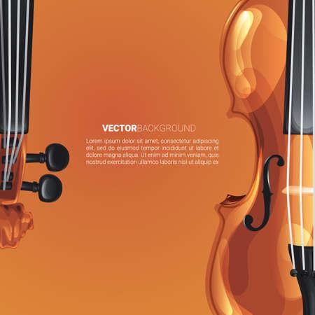 바이올린 배경 일러스트