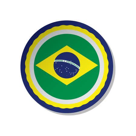 brazil flag label Reklamní fotografie - 106669426