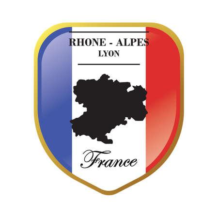 rhone-alpes map label