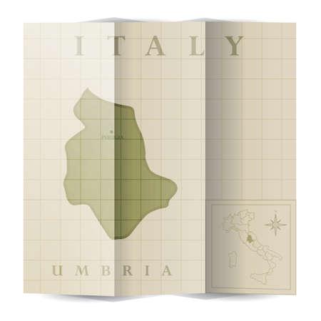 Umbria paper map