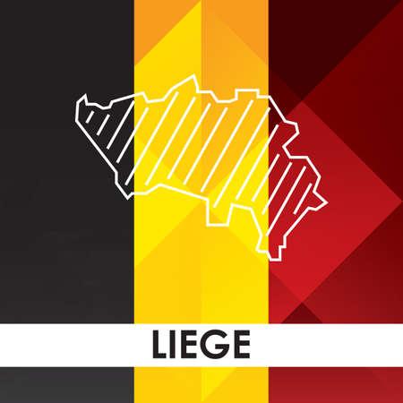 リエージュの地図