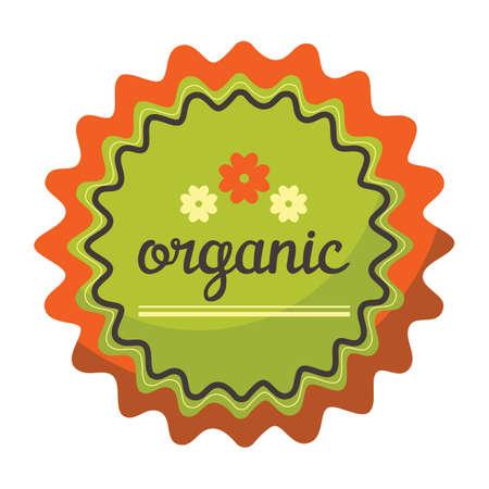 organic product label Ilustração