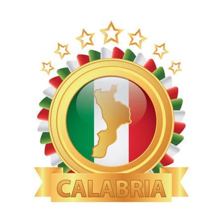 カラブリア州地図  イラスト・ベクター素材