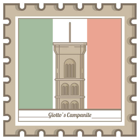 giottos campanile postal stamp