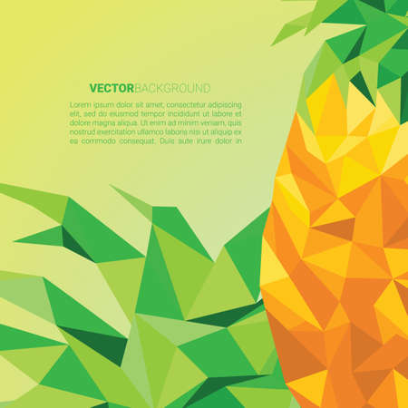 Faceted pineapple background Illustration