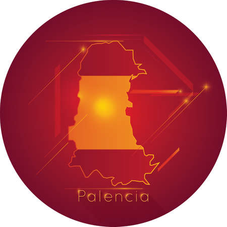 palencia map Иллюстрация