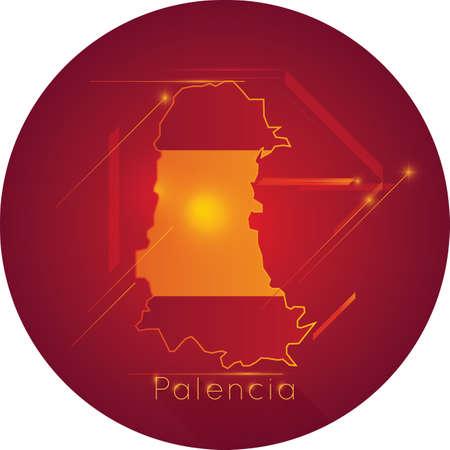 palencia map Illustration