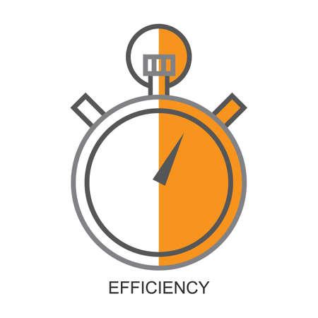 eficiencia Ilustración de vector