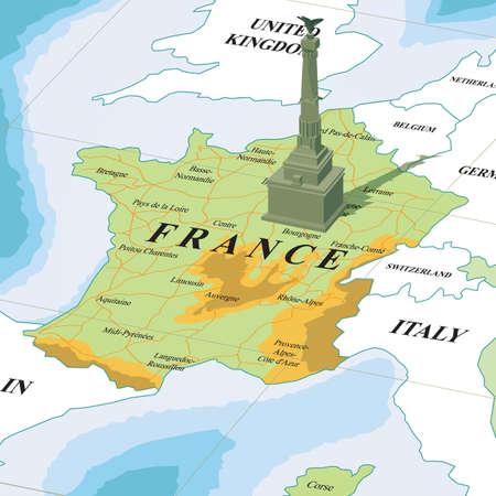 バスティーユを地図します。  イラスト・ベクター素材