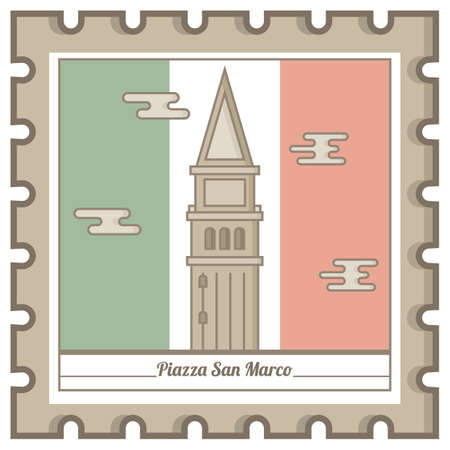 piazza san marco postal stamp