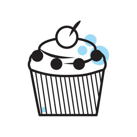 cupcake Vetores
