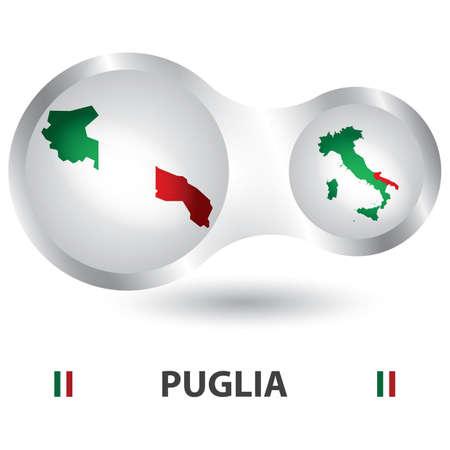 puglia map Reklamní fotografie - 81590204