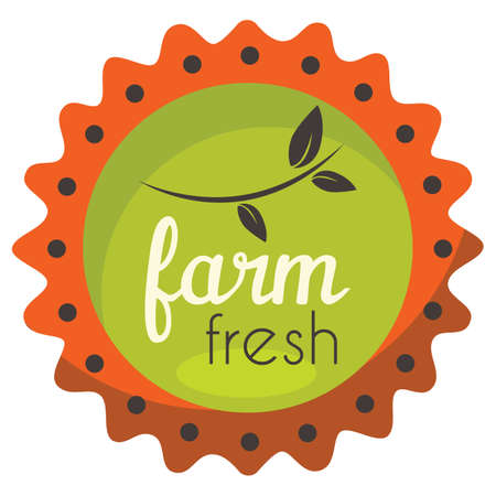 farm fresh product label Banco de Imagens - 81590102