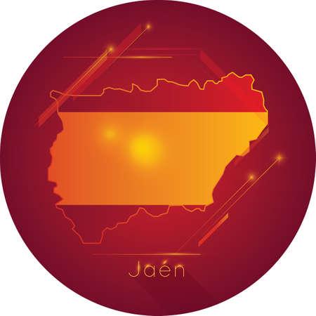 jaen map Ilustração