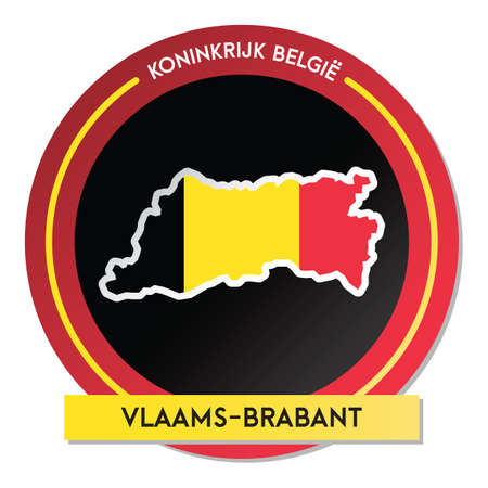 vlaams-brabant map sticker