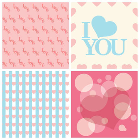 seamless heart patterns collection Imagens - 81535715