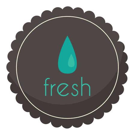 fresh label Illustration