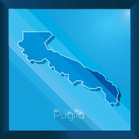 puglia map Reklamní fotografie - 81590208