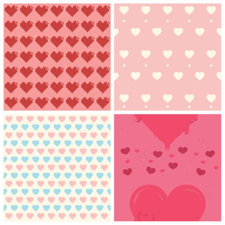 seamless heart patterns collection Stock Vector - 81535676