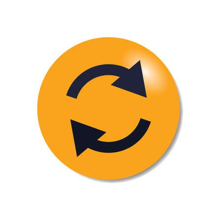 Synchronise symbol Stock Vector - 81601273